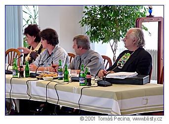 Helena Fibingerová, Lucie Weissová, Zdeněk Forman aMilan Knížák